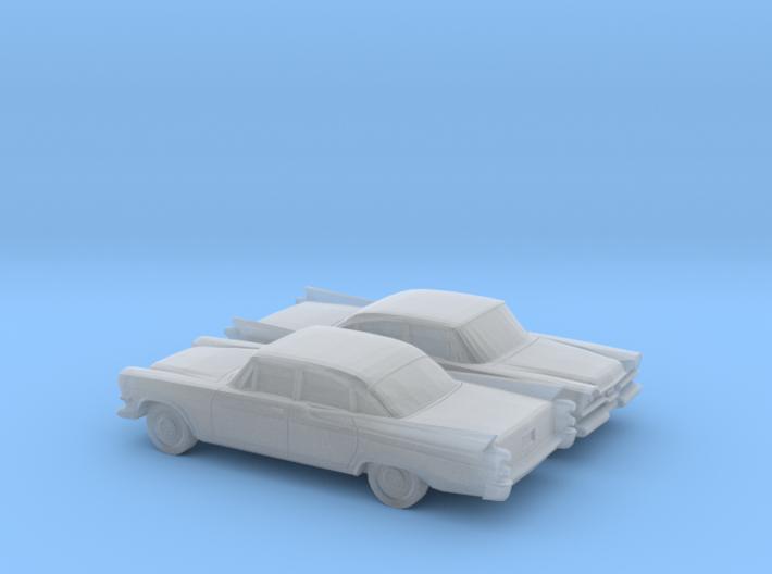 1/160 2X 1957 Dodge Royal Sedan 3d printed
