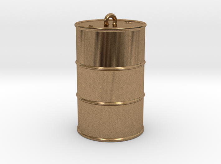 Oil drum keyring 3d printed