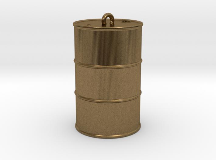 Oil drum keyring 3d printed