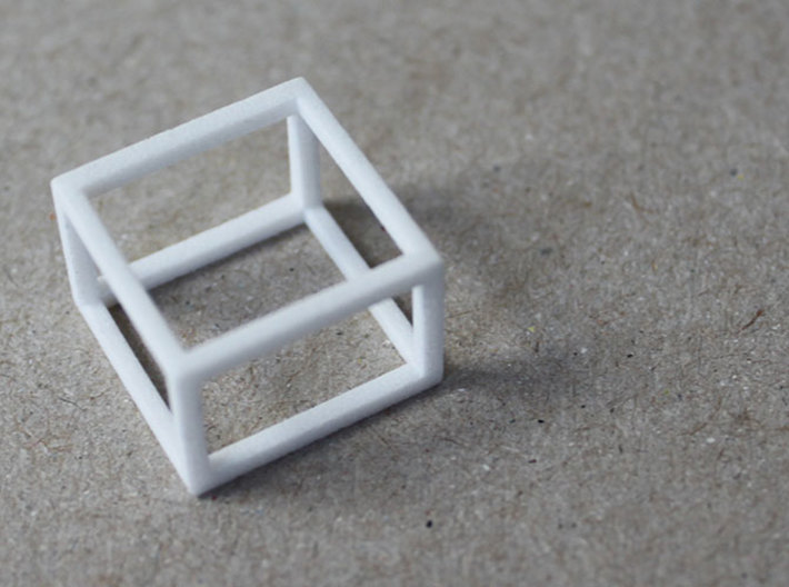 CUBE - ring or pendant - 4P 3d printed
