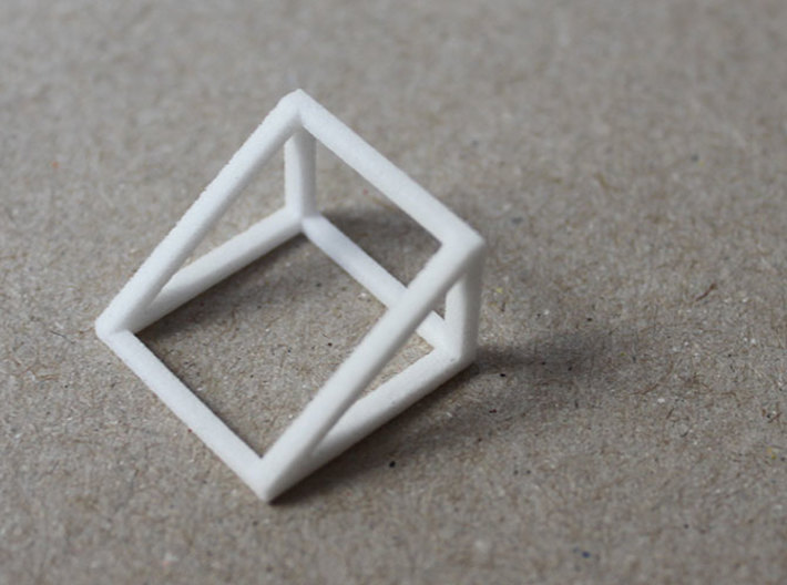 CUBE - ring or pendant - 2P 3d printed