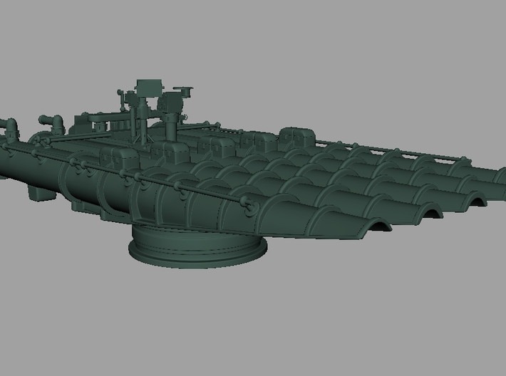 1/72 21in Quintuple Torpedo Tube 3d printed
