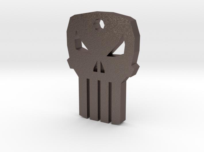 Punisher Keychain 3d printed