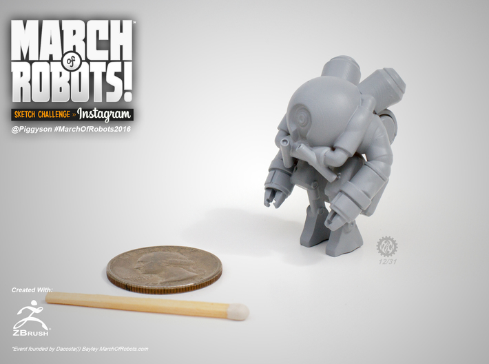 March 12 Robot 3d printed