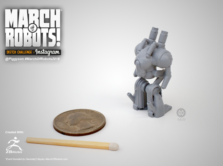 March 14 Robot 3d printed