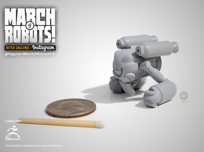March 18 Robot 3d printed