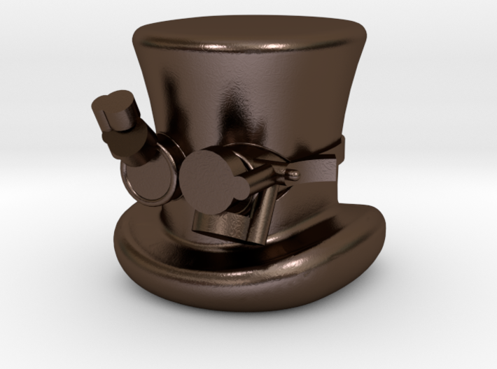 Steampunk Hat And Goggles Half Inch Game Piece 3d printed
