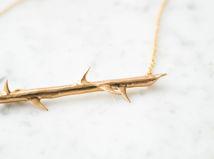 Thorn Necklace Minimal 3d printed