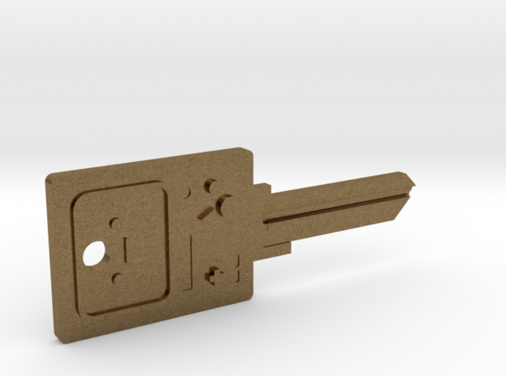BMO House Key Blank - KW11/97 3d printed