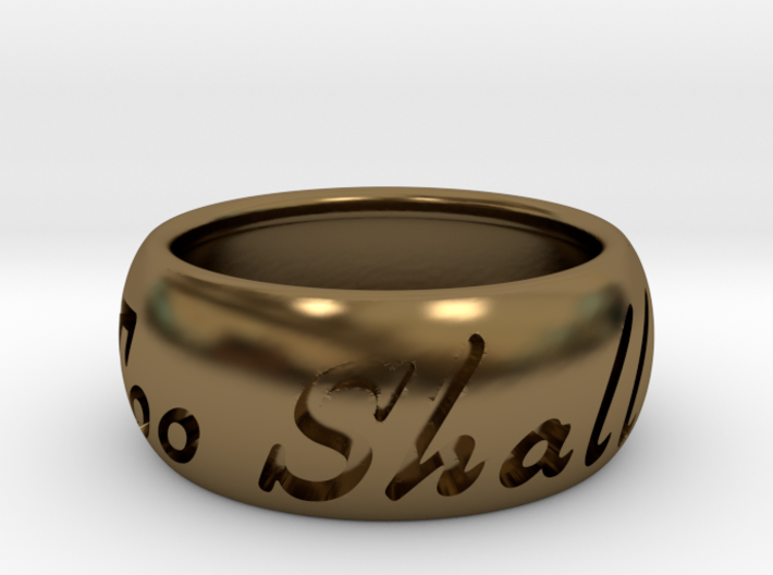 This Too Shall Pass ring size 8.5 3d printed