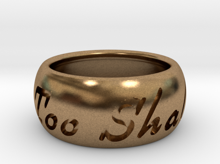 This Too Shall Pass ring size 6.5 3d printed