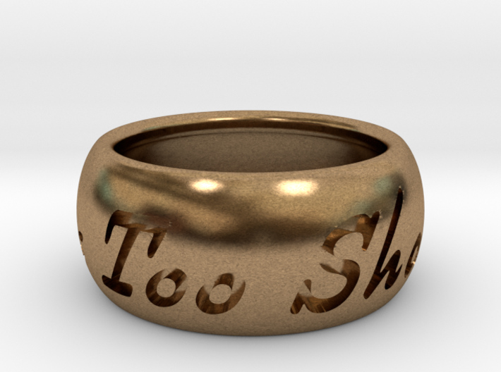 This Too Shall Pass ring size 6 3d printed
