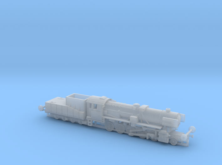 German BR 52 Steamloco w. K 4 T 30 Tender 1/285 3d printed