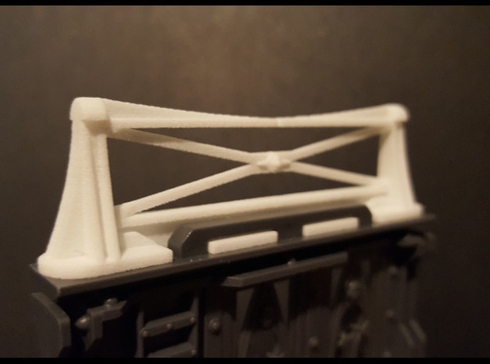 Hive Handrail 1 3d printed early prototype fitted to necromunda bulkhead