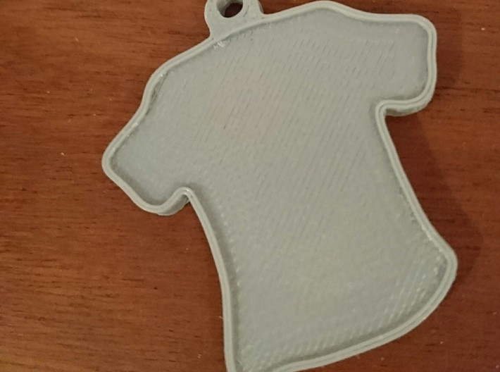 Keychain- Shirt 3d printed Printed Keychain
