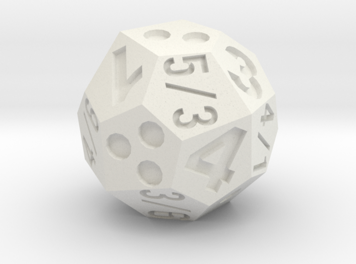 multidie d4/6/8 3d printed if this were looking straight down at the die, the result would be: d4=3, d6=3, or d8=4