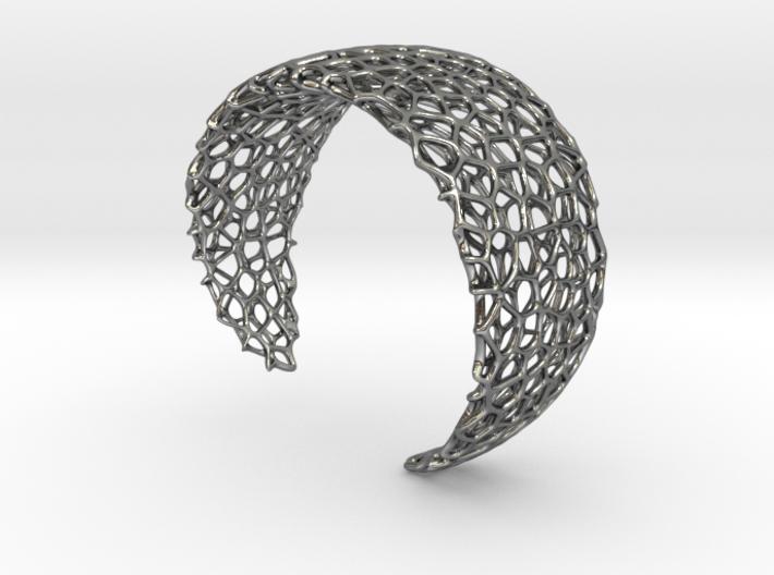 Voronoi Cuff Bracelet - Medium sized cells 3d printed