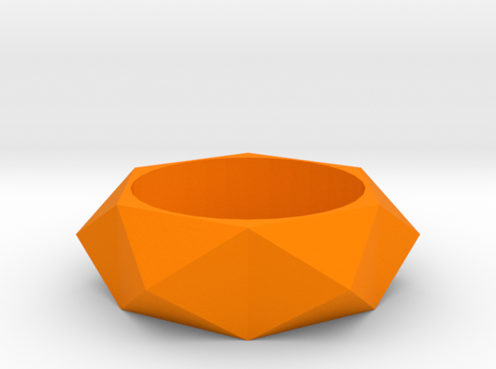Beveled Sun Ring 3d printed