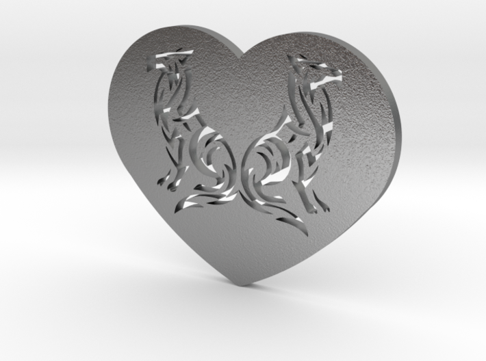 Geri and Freki Heart 3d printed