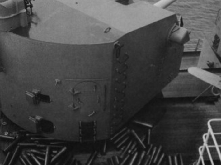 """1/400 5""""/38 Mk.28 Twin Mounts with Trunnions 3d printed"""
