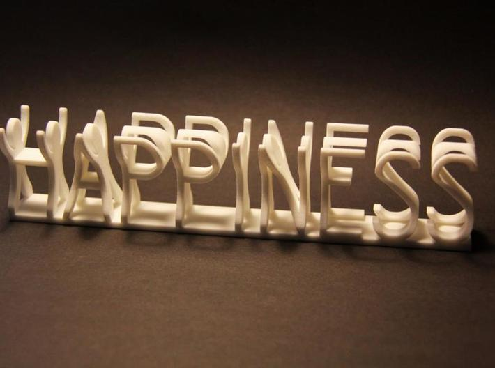 Happiness medium 3d printed
