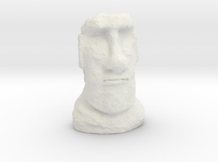 TT Gauge Moai Head (Easter Island head) 3d printed