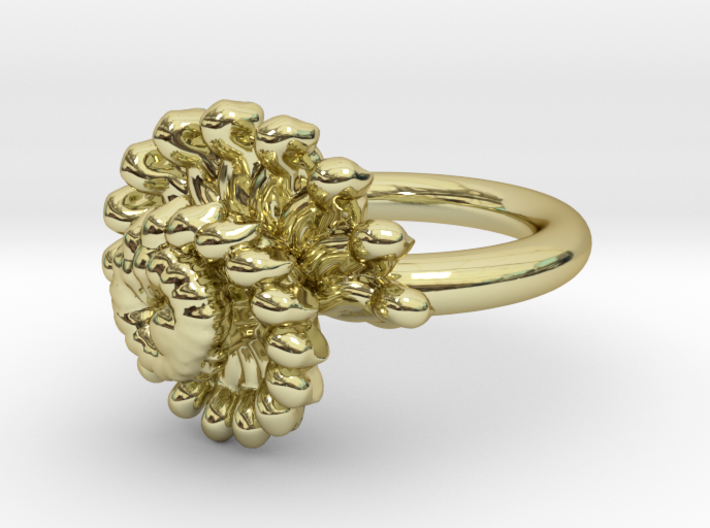 Golden Spiral Ring UK Size M 3d printed