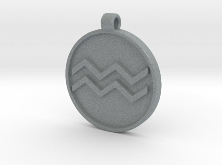 Zodiac KeyChain Medallion-AQUARIUS 3d printed