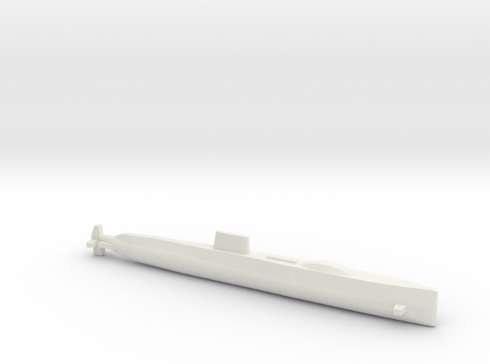 USS Halibut, Full Hull, 1/1800 3d printed