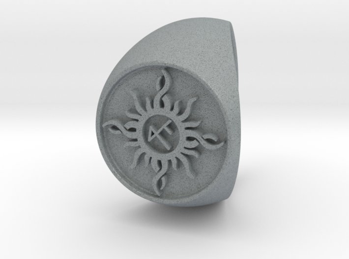 Custom Signet Ring 22 Size 13.5 3d printed