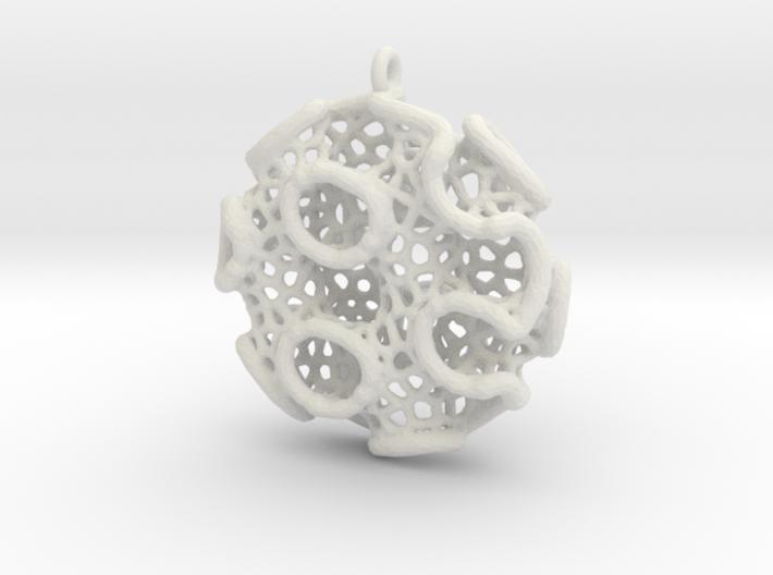 Gyro Disc Pendant (Earrings) 3d printed