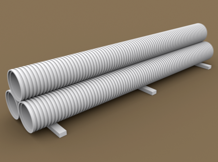 TT Scale Smmps Wagon Plastic Tubes Cargo 3d printed TT Scale Smmps Wagon Plastic Tubes Cargo