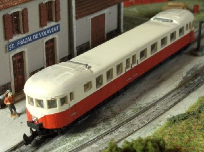Decauville Autorail - DXW Nm 1:160 3d printed Completed model