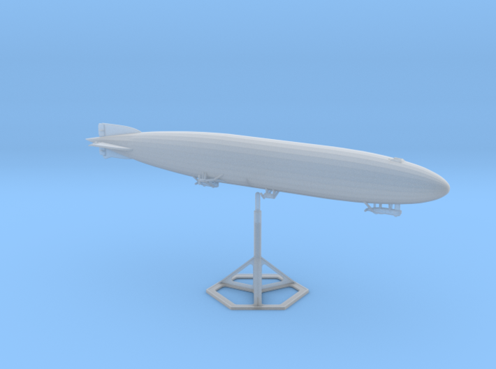 Zeppelin R Type with stand 1/1250 scale (FD) 3d printed Zeppelin R-Type with Display Stand