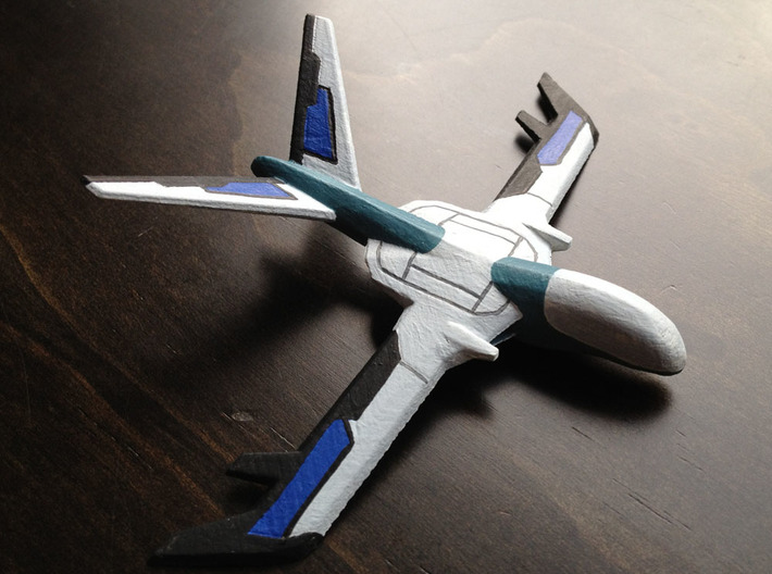 Electronic Warfare Drone 3d printed Painted model - printed in White Detail and painted with acrylic paints.
