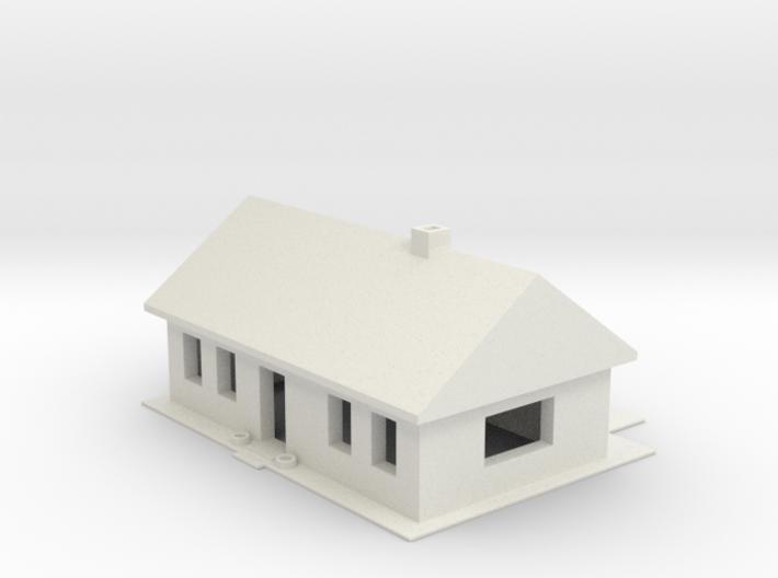 N Scale Cape Cod Home 3d printed