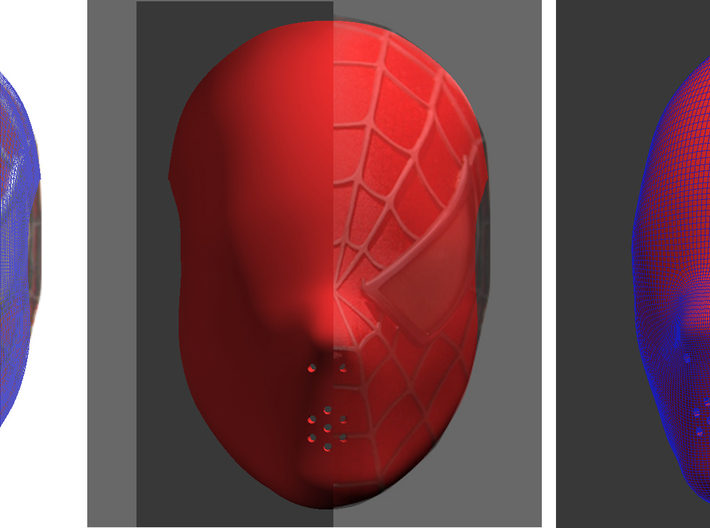 Generic Face Shell 3d printed