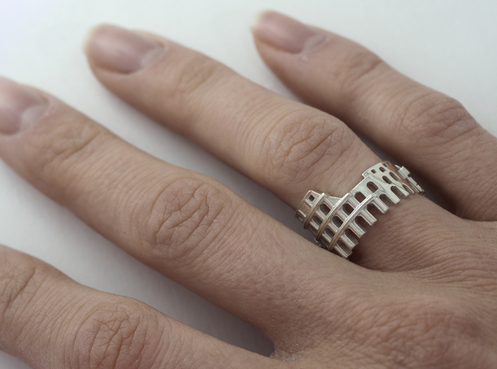 Rome Ring - Gift for Designer 3d printed