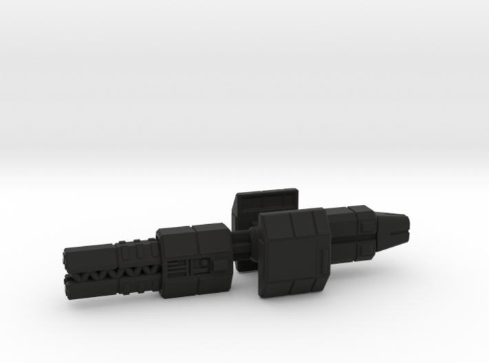 Railgunner spaceship 3d printed
