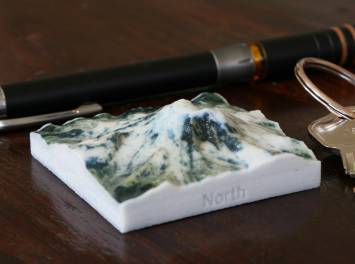 Mt. Rainier, Washington, USA, 1:250000 Explorer 3d printed Photo of Mt. Rainier at 1:250000, seen from the North