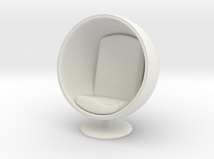 1/32 Girl sitting Egg Chair Part of Chair 001 3d printed