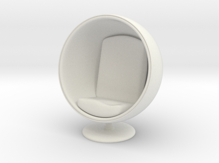 1/32 Girl sitting Egg Chair Part of Chair 003 3d printed
