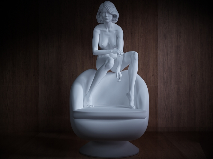 1/32 Girl sitting Chair Part of Girl 016 3d printed