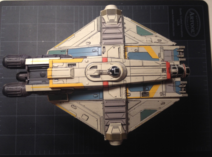 X-Wing Miniatures Ghost Docking Bay for Phantom 3d printed