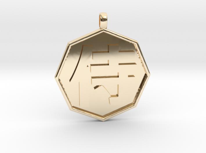 Samurai pendant 3d printed