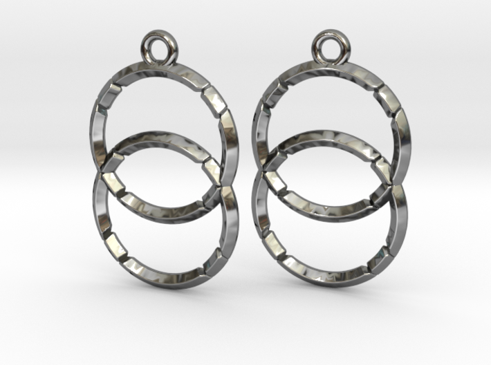 VESICA PISCIS (earrings) 3d printed