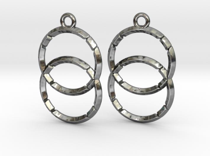 VESICA PISCIS (earrings) 3d printed