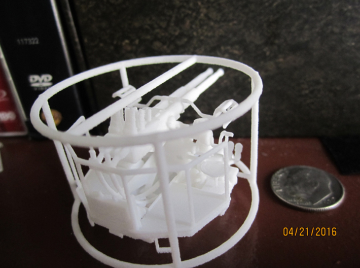 1/72 40mm Bofors Twin Mount Strong & Flexible 3d printed
