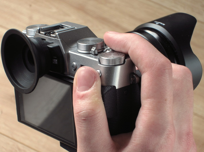 Grip for X-T10 3d printed