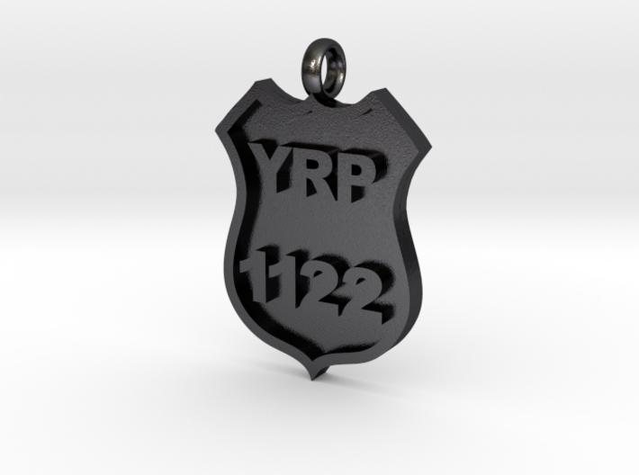 Police Badge Pendant 3d printed